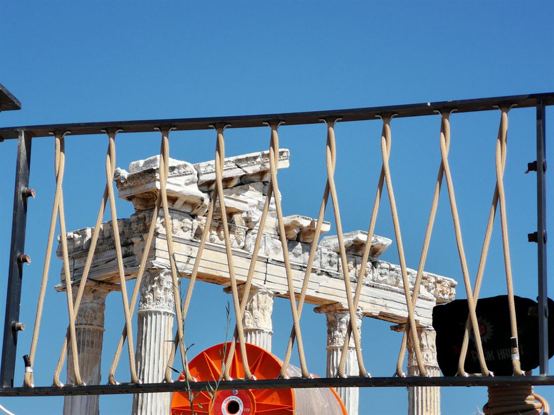 The Temple of Apollo and its surroundings are now safer with our ropes
